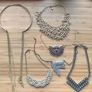 Jewelry - Six statement necklaces for the price of one